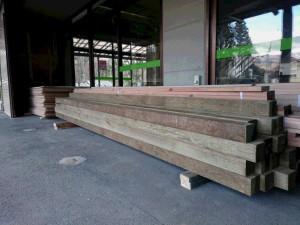 届いた木材